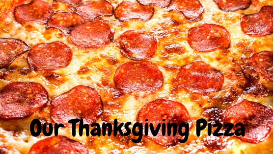 Our Thanksgiving Pizza