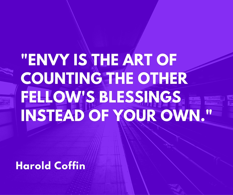 _Envy is the art of counting the other fellow's blessings instead of your own._